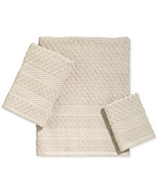 Avanti Checkerboard Cotton Terry Jacquard Bath Towel Collection