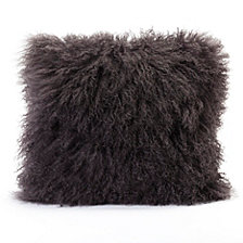 Lamb Fur Pillow, Grey