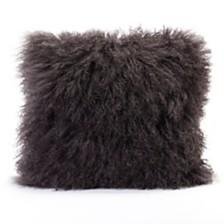 Lamb Fur Pillow Gray