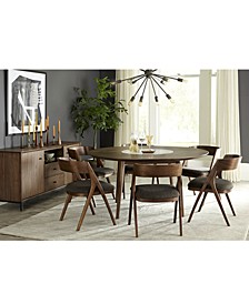 Oslo Dining 7-Pc. Set (Lazy Susan Table & 6 Side Chairs), Created for Macy's