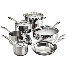 Gourmet Tri-Ply Clad 12 Pc Cookware Set