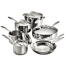 Tramontina Gourmet Tri-Ply Clad 12 Pc Cookware Set