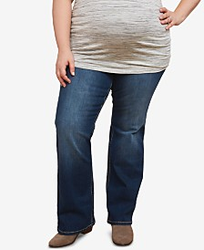 Motherhood Maternity Plus Size Boot-Cut Jeans