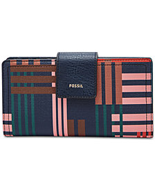 Fossil Logan Printed Tab Clutch Wallet