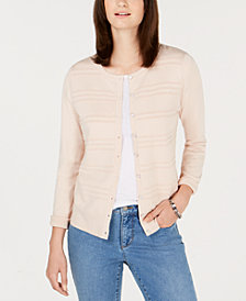 Charter Club Petite Textured Cardigan Sweater, Created for Macy's
