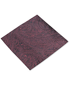 Ryan Seacrest Distinction™ Men's Solid Paisley Silk Pocket Square, Created for Macy's