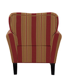 Sean Chair in Crimson Red Stripe