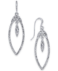 I.N.C. Silver-Tone Crystal Drop Earrings, Created for Macy's