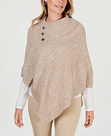 Karen Scott Petite Envelope-Neck Poncho, Created for Macy's
