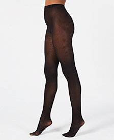 I.N.C. Vertical Stripe Knit Tights, Created for Macy's