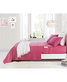 Benzoyl Peroxide-Resistant Twin Sheet Set with Storage Pockets