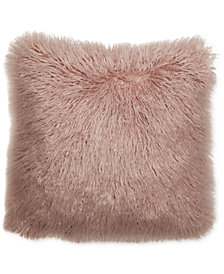 "Hallmart Collectibles Mongolian Faux-Fur 18"" Square Decorative Pillow Pair, Created for Macy's"