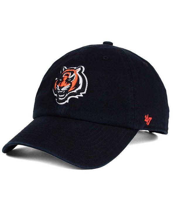 '47 Brand Cincinnati Bengals CLEAN UP Strapback Cap