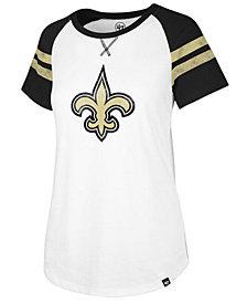 '47 Brand Women's New Orleans Saints Flyout Raglan T-Shirt
