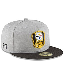 Pittsburgh Steelers On Field Sideline Road 59FIFTY FITTED Cap