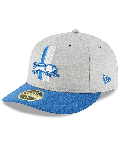 3787bf07293 ... New Era Detroit Lions On Field Low Profile Sideline Home 59FIFTY FITTED  Cap ...