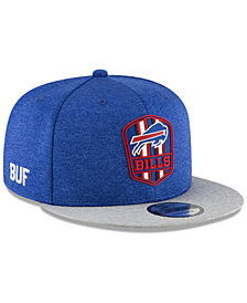 New Era Buffalo Bills On Field Sideline Road 9FIFTY Snapback Cap