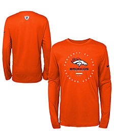 Nike Denver Broncos Prop Of Long Sleeve T-Shirt, Big Boys (8-20)