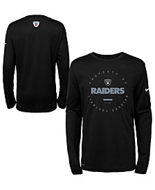 Nike Oakland Raiders Prop Of Long Sleeve T-Shirt, Big Boys (8-20)
