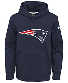 Nike New England Patriots Circuit Logo Hoodie, Big Boys (8-20)
