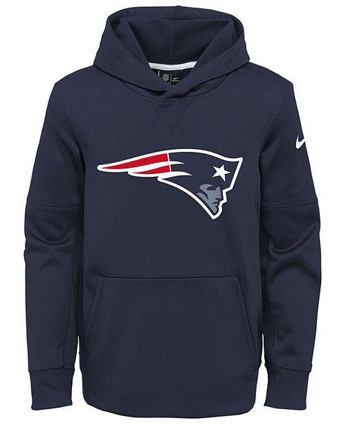 Nike New England Patriots Circuit Logo Hoodie, Big Boys (8-20)