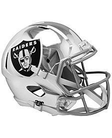 Riddell Oakland Raiders Speed Chrome Alt Replica Helmet