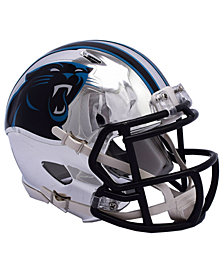 Riddell Carolina Panthers Speed Chrome Alt Mini Helmet