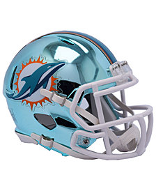 Riddell Miami Dolphins Speed Chrome Alt Mini Helmet