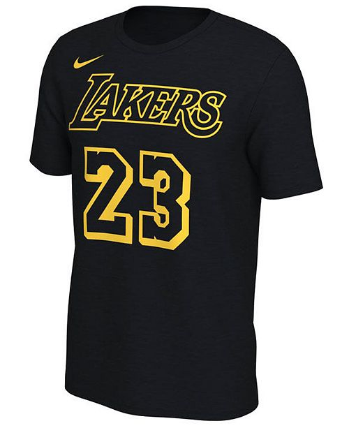 finest selection 48bc8 f8621 Nike LeBron James Los Angeles Lakers City Edition T-Shirt ...
