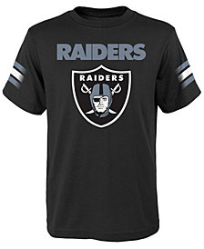 Outerstuff Oakland Raiders Goal Line T-Shirt, Big Boys (8-20)