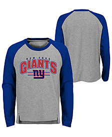 Outerstuff New York Giants Audible Long Sleeve T-Shirt, Big Boys (8-20)