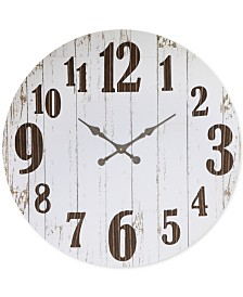 Round MDF & Metal Clock