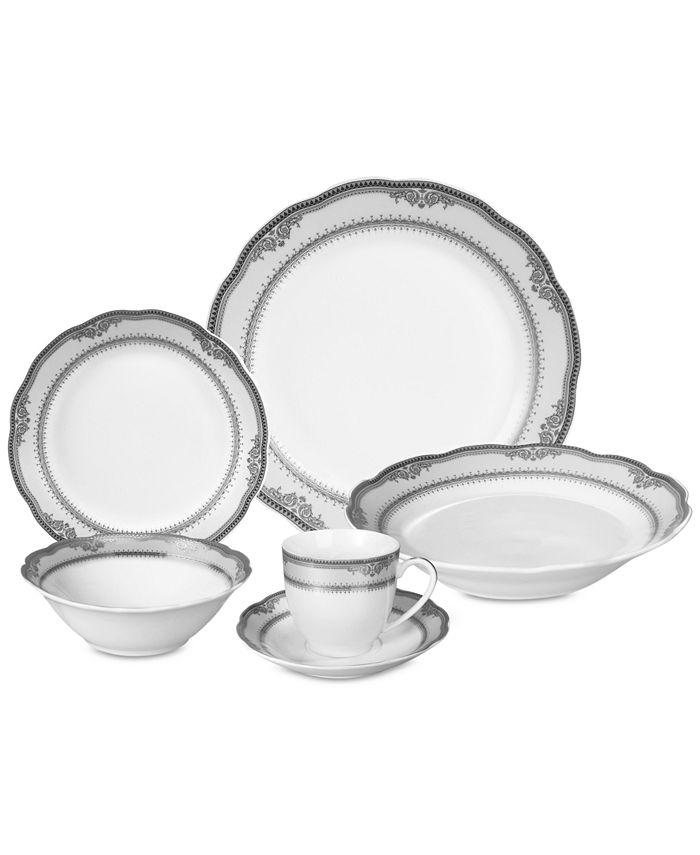 Lorren Home Trends - Victoria 24-Pc. Dinnerware Set, Service for 4
