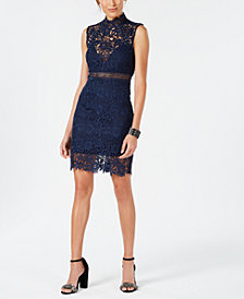 Bardot Lace Mock-Neck Sheath Dress
