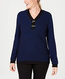 Karen Scott Cotton Henley Sweater, Created for Macy's