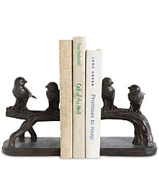 Birds on Branch Resin Bookends, Set of 2