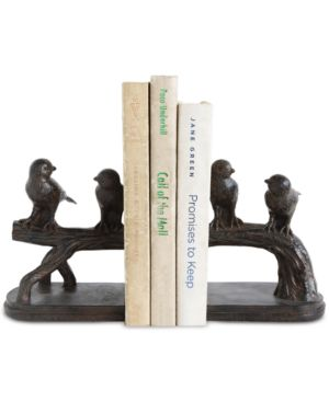 Image of Birds on Branch Resin Bookends, Set of 2