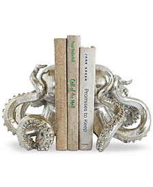 Octopus Resin Bookends, Set of 2