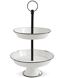 Studio 2-Tier Decorative Metal Pedestal