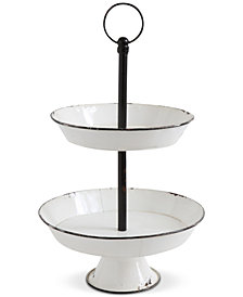 3R Studio 2-Tier Decorative Metal Pedestal