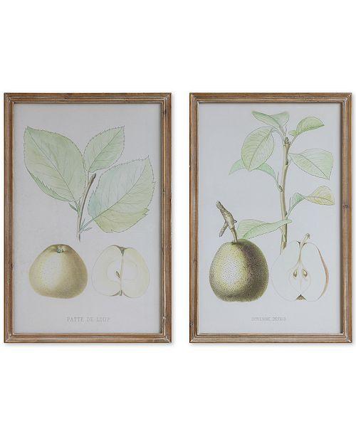 3R Studio Framed Pear Wall Decor, Set of 2 - Wall Art - Macy\'s