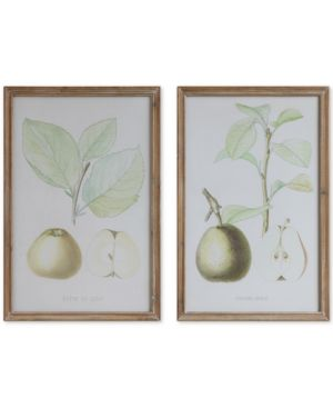 Image of Framed Pear Wall Decor, Set of 2
