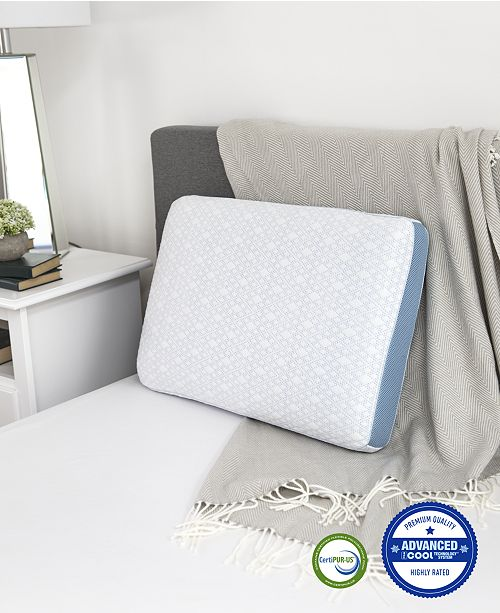 SensorGel CLOSEOUT!Advanced iCOOL Gel-Infused Memory Foam Gusset Standard Pillow, Created for Macy's