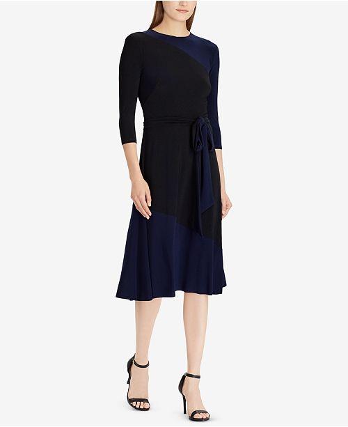 Lauren Ralph Lauren Two-Tone Dress