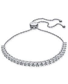 kate spade new york Hematite-Tone Round Crystal Tennis Slider Bracelet