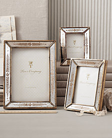 Verona Set of 3 Gold Leaf Mirror Photo Frames Includes