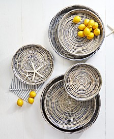 Two's Company Woven Trays, Set of 6