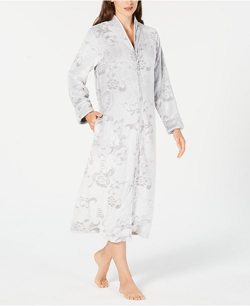 Charter Club Petite Printed Long Zip Robe bb21718fe
