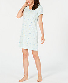 Charter Club Cotton Printed Sleepshirt, Created for Macy's
