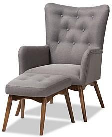 Waldmann Lounge Chair & Ottoman Set, Quick Ship